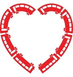 Heart Train vector image