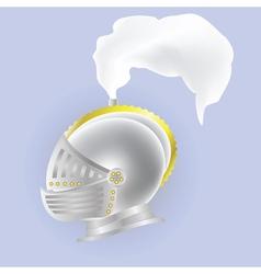 Knights helmet vector
