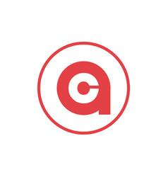 Letter a negative space letter c icon logo design vector