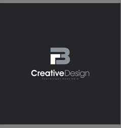 Letter fb logo design creativepremium minimal vector