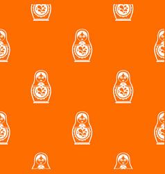 matryoshka pattern seamless vector image