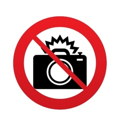 No Photo camera sign icon Photo flash symbol vector