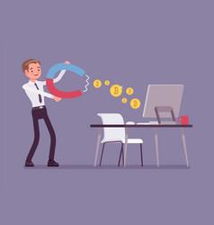 online business profit vector image