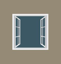 open window frame icon vector image