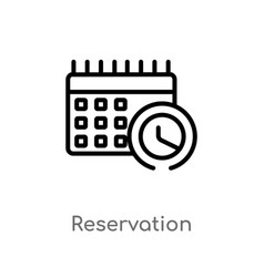 Outline reservation icon isolated black simple vector