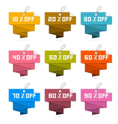 Paper Discount Labels Tags Isolated on White vector image