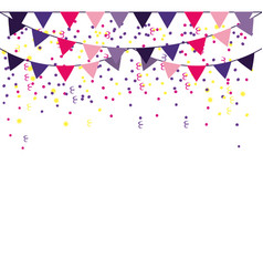 party pennants frame vector image