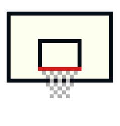 pixel basketball basket hoop art cartoon vector image