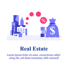 Real estate investment idea mortgage loan vector