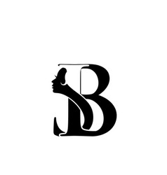 Salon beauty icon letter b s logo design vector