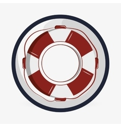 Sea lifestyle icon nautical design Flat vector