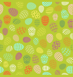 Seamless background to easter with eggs 3 vector