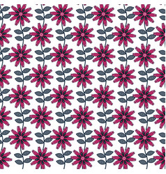 seamless flower pattern in folk art style vector image