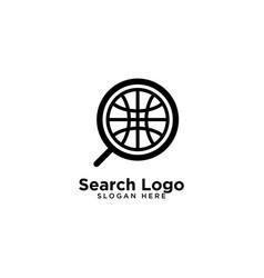 Search logo template design vector