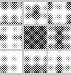 Set of monochrome dot pattern designs vector image
