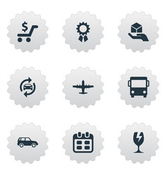 set of simple delivery icons vector image