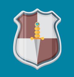 Shield flat vector