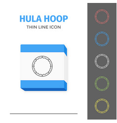 Simple line stroked hula hoop icon vector