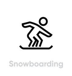 snowboarding sport icons vector image