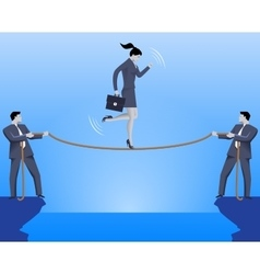 Teamwork during crisis time business concept vector