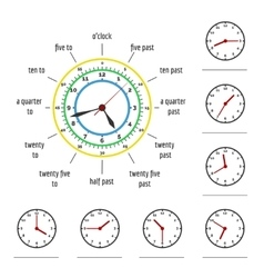 telling time vector image
