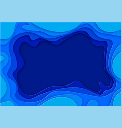 the shades of blue are cut from paper place for vector image