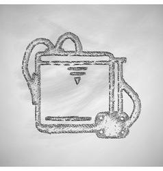 Three d printer icon vector