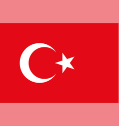 turkey flag official colors vector image