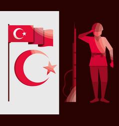 turkey independence set vector image