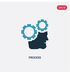 Two color process icon from people skills concept vector