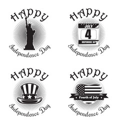 us independence day icon set vector image