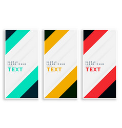 Vertival business banners set design vector