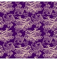 Violet floral seamless pattern vector