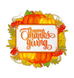 Watercolor design style happy thanksgiving day vector