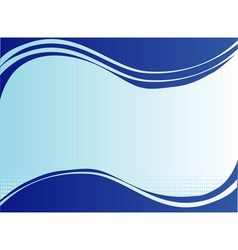Wave blue background with place for text vector