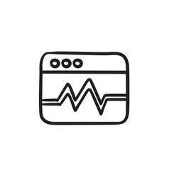 Web analytics information sketch icon vector