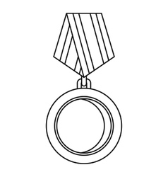 Winning medal icon outline style vector