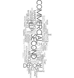 Your second commercial text word cloud concept vector