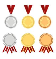award rosette gold vector image