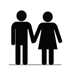 couple icon black vector image vector image