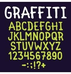 Hand drawn graffiti letters set vector image