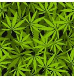 Marijuana leaves seamless pattern vector image