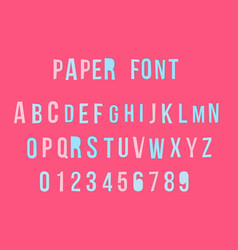 modern colorful paper font with numbers vector image vector image