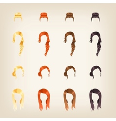 Set of female hair vector image vector image