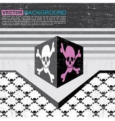 skulls in box vector image vector image