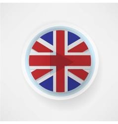 britain flag button vector image