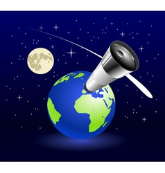 Earth blue planet vector image vector image