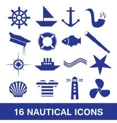 nautical icon collection eps10 vector image