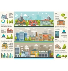 Urbanity Infographics Template vector image vector image