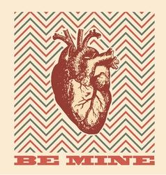 Be mine - valentines design vector